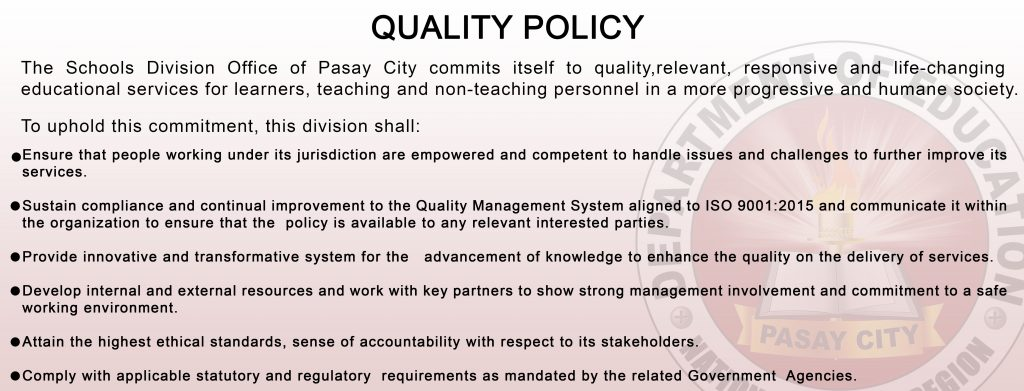 QUALITY POLICY LANDSCAPE